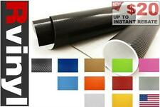 Rwraps Carbon Fiber 4D Vinyl Wrap Sheet Film Roll for Custom Chrome Trim & More