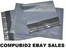 "NEW GREY STRONG DURABLE POSTAGE POSTAL MAILING POLY BAGS 10"" X 14"" 250mm X 350mm"