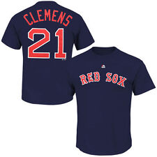 Roger Clemens Majestic Boston Red Sox T-Shirt - MLB