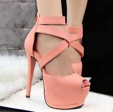 Sexy Womens Roman Style Platform Peep Toe Strappy High Heel Summer Sandals Shoes