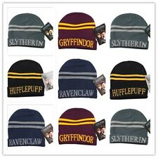 Winter Cosplay Harry Potter Hufflepuff Slytherin Gryffindor Ravenclaw Hat Cap