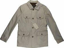 CANALI BEIGE RAIN & WIND TECH BUTTON/ZIPPER MEN'S JACKET-MADE IN ITALY