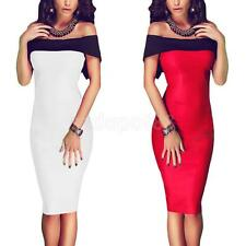 Sexy Ladies Bodycon Off Shoulder Backless Women Slim Pencil Dress Formal Dress