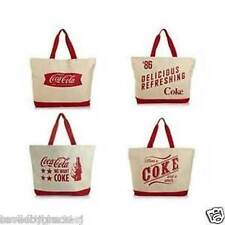 Coca-Cola Large Canvas Coke Tote Bag W/Coin Purse- BN- Choose from 4 Styles