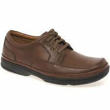 Clarks Swift Mile Mens Casual Brown Lace-Up Shoes