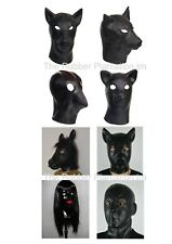 Black Latex Fetish Mask Hood Female Doll Transvestite Fancy Party Gimp Stag