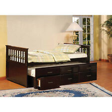 Twin Trundle Captains Bed with Drawers