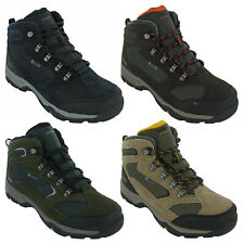 Hi-Tec Storm Waterproof Boots Leather Mesh Lace Up Hiking Walking Trail Mens