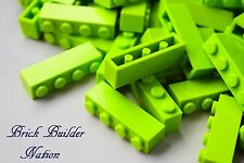 ☀️NEW Lego 1x4 LIME GREEN BRICKS Building Parts pieces bulk lot #3010 tmnt