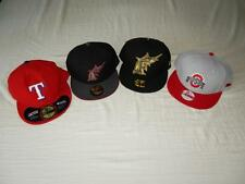 New Men's New Era Hats - 4 Styles - NWT -Florida Marlins, Ohio State, TX Rangers