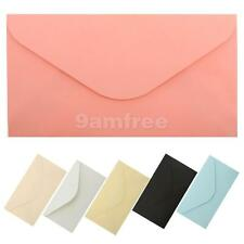 50x Multicolor Blank DIY Envelopes for Invitations Greeting Cards Announcement