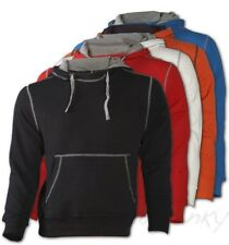 Men'S Contrast Hoodie with Hood - Sweater Pullover Hoody Jumper S-XXXL JN961