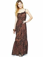 SOUTH CRINKLE PRINTED STRAPPY MAXI DRESS ANIMAL PRINT SIZE 14 BRAND NEW