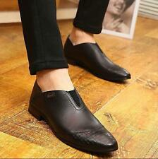 Trendy Men's Dress Formal Pointed Toe Slip On Loafer Leather Wedding Shoes new