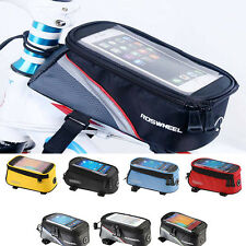 Bike Handlebar Bag Pouch Bicycle Pannier Frame Tube Cycling Outdoor Front Basket