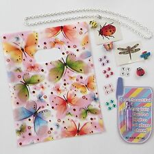 6x Girls Party Favours Loot Bag kids birthday lipgloss crystals necklace 114 toy