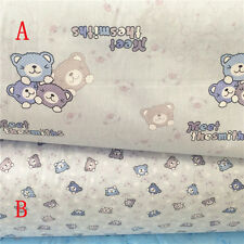 50x160cm Cotton Twill Fabric Quilt Bedding Home Deco Bear AB Grey NT07 G#