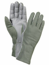 US Air Force Fire Flame Heat Resistant Olive Drab Tactical Pilot Flight Gloves