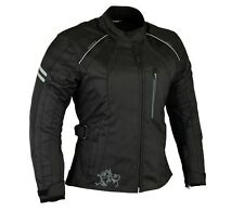 Womens textile Motorcycle jacket by altimate all sizes xs,s,m,l,xl,xxl Black