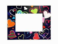 """Lot of 24 Pieces - Colored Hearts Theme Card  5"""" x 7"""" Picture Frames with Easel"""