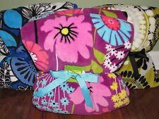 Vera Bradley FLUTTERBY or COCOA MOSS Soft Plush Large THROW Blanket - NWT