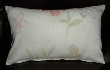 ~ LAURA  ASHLEY HOME FABRIC ~~ MALLOW / PINK GINGHAM 17 x 10 inch CUSHION