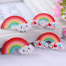 6Pcs Resin Flatback Rainbows Cabochon 3D Phone Case Decoden Craft Scrapbook DIY