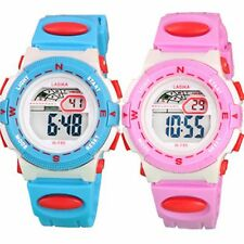 Boy Kid Child Girl Led Digital School Sports Waterproof alarm Wrist Watch Gift