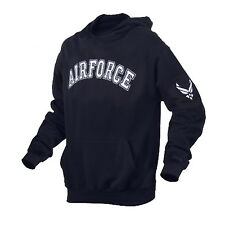 US Air Force USAF Navy Blue Pullover Hoody Hoodie Hood Sweatshirt Shirt Jacket