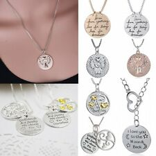 Fashion Letter Girlfriends Family Lovers Pendant Necklace Forever Friend Jewelry
