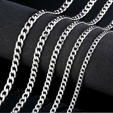 """Men's /Women's 316L Stainless Steel Figaro Link Chain Necklace 3~6mm,18~24""""inch"""