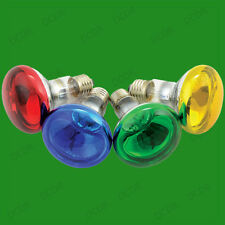 6x 60W R80 Coloured Reflector Dimmable Disco Spot Light Bulbs ES E27 Screw Lamps