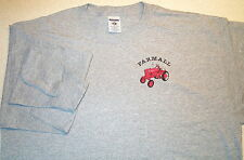 Mens Farmall Cub Long Sleeve Embroidered T-shirt (4 colors)
