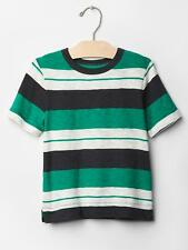 NWT BABY GAP BOYS TOP SHIRT stripe green navy white   you pick size