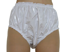 PVC Plastic Pants Panties Knickers 4 Sizes Vinyl Roleplay Shiny White Adult Baby