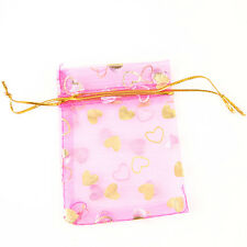 50pcs Hot Sale Ribbon Yarn Love Heart Gift Bags Wedding Favours Fit Packaging L