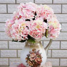 5 Heads Artificial Silk Flowers Bridal Hydrangea Floral Party Wedding Decor Home