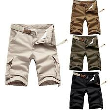 Men Casual Army Cargo Shorts Combat Pants Camo Camouflage Overall Sports R4W5