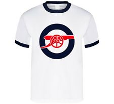 ARSENAL FC Gunners EPL Football Soccer Ringer T-SHIRT NEW uk england