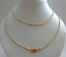 9ct 9k Solid Yellow Gold Snake Chain Rope Necklace 1.60 mm N112 CUSTOM