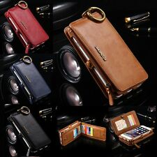 Genuine Leather Removable Wallet Flip Card Case Cover for Apple iPhone 5 5S case