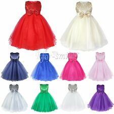 Flower Girl Princess Tutu Dress Kids Party Pageant Wedding Bridesmaid Ball Gown