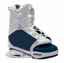 2007 LIQUID FORCE ALPHA NAVY/WHITE MENS WAKEBOARD OPEN-TOE BINDINGS NEW $269