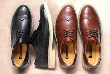 FASHION MENS LACE UP CLASSIC WING TIP OXFORDS LEATHER CASUAL BROGUE DRESS SHOES