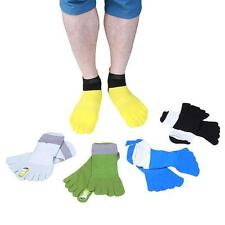 Hot Mens Mesh Low Cut Socks Boat Five Finger Toe Cotton Anti Odor Sports Socks S