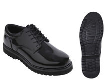 Uniform High Hi Gloss Oxford Band Parade Military Cadet Work Sole Dress Shoes
