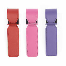 Royce Leather Red Leather Luxury Luggage Tags (Set of 3)