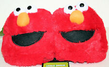 NEW RED SESAME STREET ELMO Muppets plush ADULT Costume Slippers soft shoes  S& L