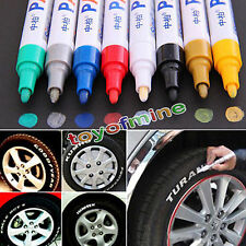 WATERPROOF PERMANENT CAR TYRE TIRE METAL PAINT PEN MARKER ALL COLORS BRAND NEW