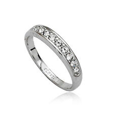 Fashion Jewelry - 18K White Gold Plated Band Ring (FR142)